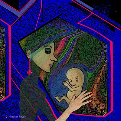 387 -  Thinking Of Her Unborn Child ...    Poster by Irmgard Schoendorf Welch