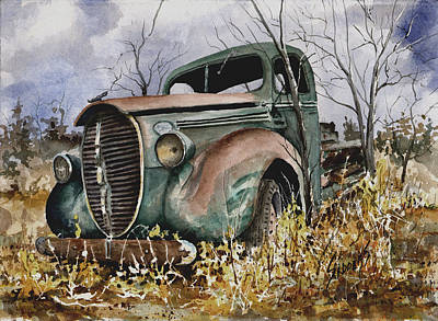 39 Ford Truck Poster by Sam Sidders