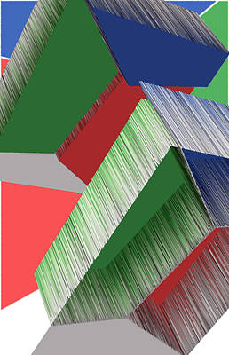 3d Abstract 7 Poster by Angelina Vick