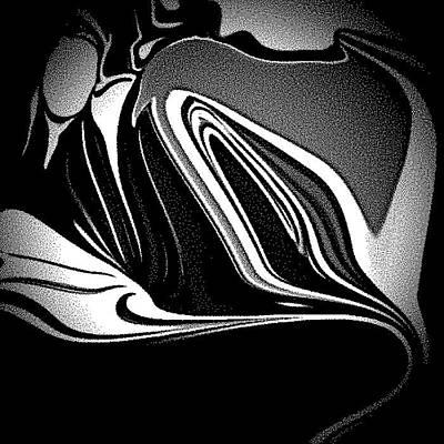 3d Black Swrils Poster