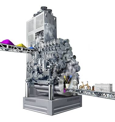3d Printer, Conceptual Artwork Poster by Science Photo Library