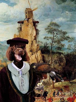 Portuguese Water Dog - Cao De Agua Portugues Art Canvas Print Poster by Sandra Sij