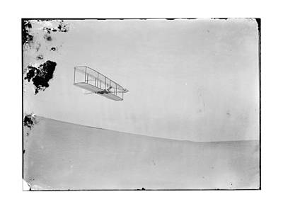 1902 Wilbur Wright Piloting Glider Poster by MMG Archives