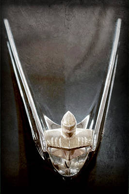 1956 Lincoln Premiere Convertible Hood Ornament Poster by Jill Reger