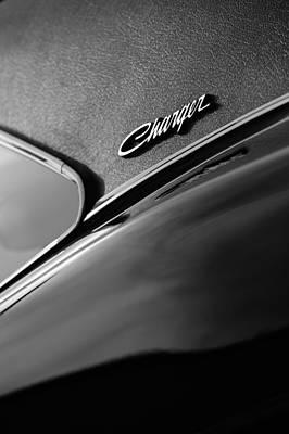 1969 Dodge Charger R-t Side Emblem Poster by Jill Reger