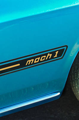 1969 Ford Mustang Mach 1 Side Emblem Poster