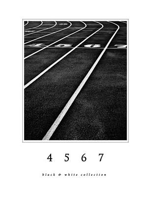 4 5 6 7 Black And White Collection Poster