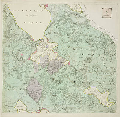 A Detailed Survey Map Of The New Forest Poster by British Library