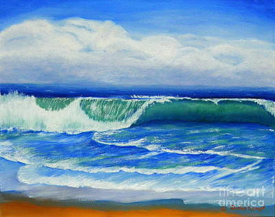 Poster featuring the painting A Wave To Catch by Shelia Kempf
