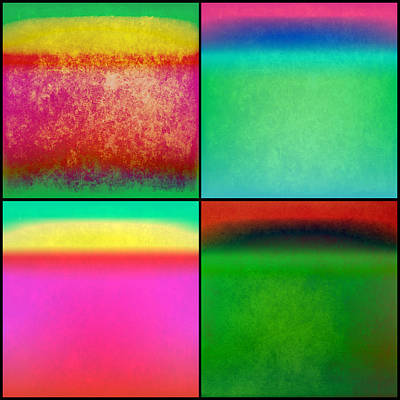 4 Abstract Squares Poster by Gary Grayson