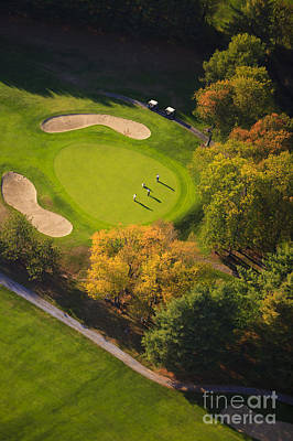 Aerial Image Of A Golf Course. Poster