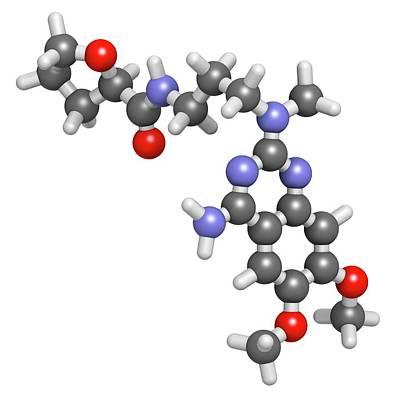 Alfuzosin Bph Drug Molecule Poster by Molekuul
