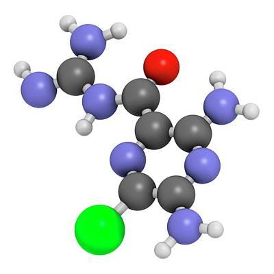 Amiloride Diuretic Drug Molecule Poster