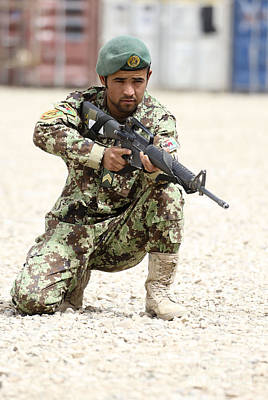 An Afghan National Army Soldier Poster by Stocktrek Images