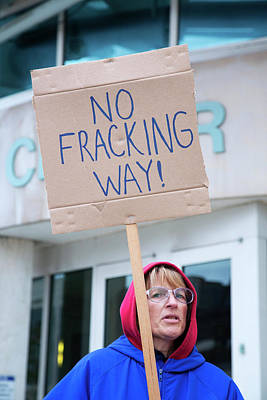 Anti-fracking Protest Poster by Jim West