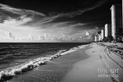 Apartments Hotels And Beachfront Developments Fort Lauderdale Beach Florida Usa Poster
