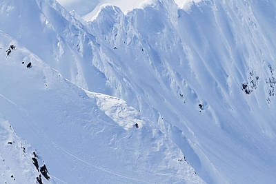 Backcountry Skiing In The Chugach Poster