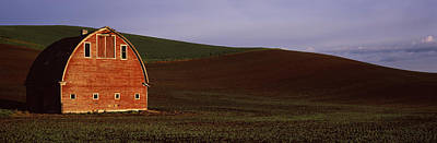 Barn In A Field At Sunset, Palouse Poster