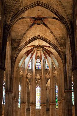 Basilica Of Santa Maria Del Mar In Barcelona Poster