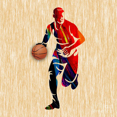 Basketball Poster by Marvin Blaine