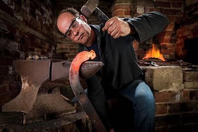 Blacksmith At Work Poster by Aberration Films Ltd