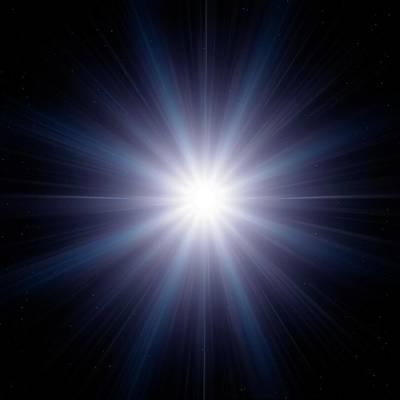Bright Star In Space Poster by Detlev Van Ravenswaay