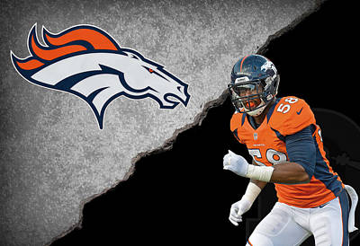 Broncos Von Miller Poster by Joe Hamilton