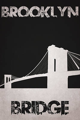 Brooklyn Bridge Poster by Joe Hamilton