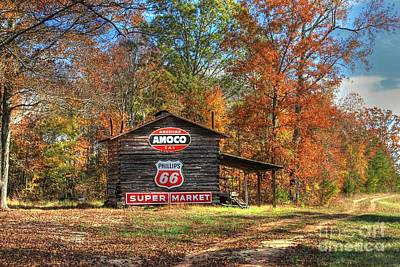 4 Burner Barn In Fall Poster by Benanne Stiens