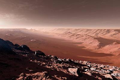 Canyons On Mars Poster by Detlev Van Ravenswaay