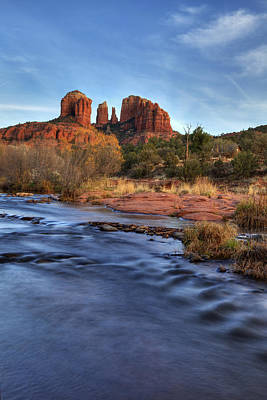 Cathedral Rocks In Sedona Poster by Alan Vance Ley