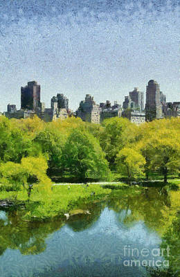Central Park In New York Poster by George Atsametakis