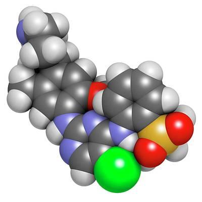 Ceritinib Cancer Drug Molecule Poster