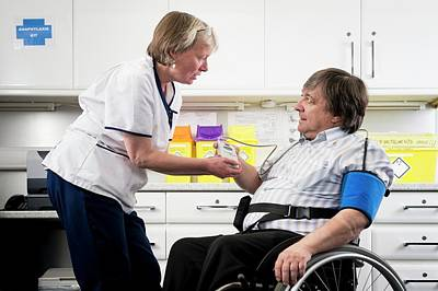 Check Up With Disabled Man Poster