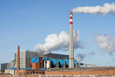 Chinese Coal Fired Power Station Poster