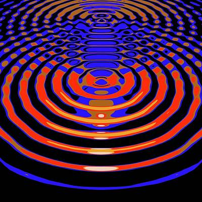 Circular Wave Interference Poster by Russell Kightley