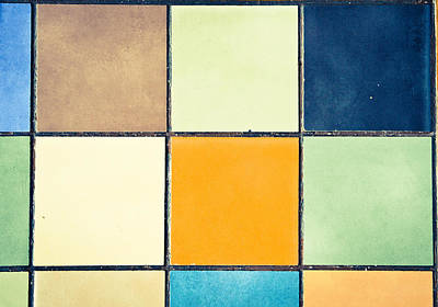 Colorful Tiles Poster by Tom Gowanlock