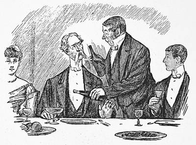 Dining, 19th Century Poster by Granger