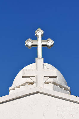 Dome Of Agios Georgios Chapel Poster by George Atsametakis