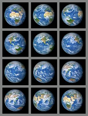 Earth's Rotation Poster by Detlev Van Ravenswaay