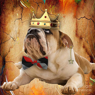 English Bulldog Bowtie Collection Poster
