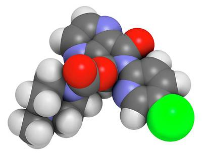 Eszopiclone Hypnotic Drug Molecule Poster