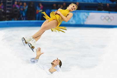 Tatiana Volosozhar And Maxim Trankov Poster by Don Kuing