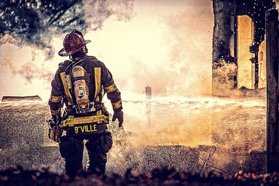 Firefighters Poster by Everet Regal