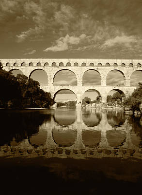 France, Languedoc, Gard, View Of Pont Poster