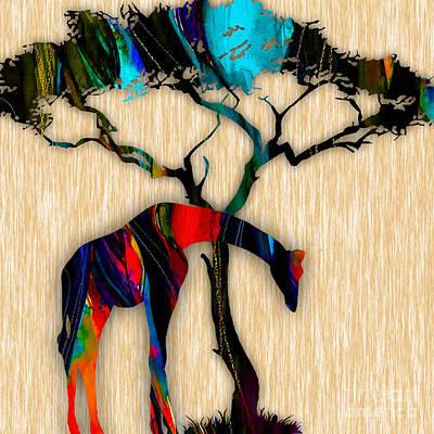 Giraffe Poster by Marvin Blaine