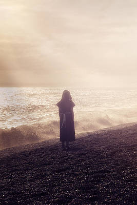 Girl On Beach Poster by Joana Kruse