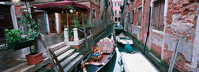Gondolas In A Canal, Grand Canal Poster by Panoramic Images