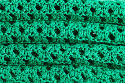 Green Wool Poster