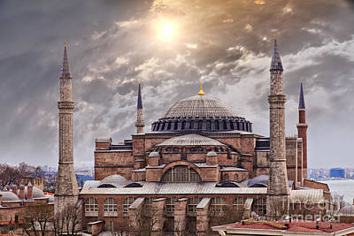 Hagia Sophia Istanbul Poster by Sophie McAulay